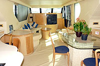 Main Cabin of Cabo Yacht